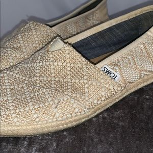 Toms cream slip on espadrilles